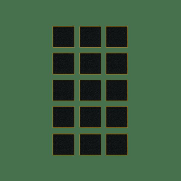 Podkładki meblowe filcowe czarne Premium 25mm x 25mm