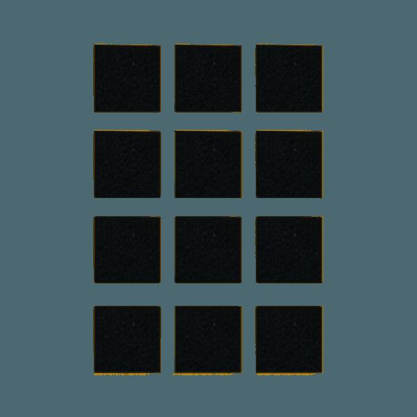 Podkładki meblowe filcowe czarne Premium 30mm x 30mm