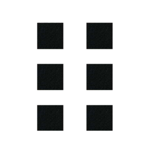 Podkładki meblowe filcowe czarne Premium 40mm x 40mm