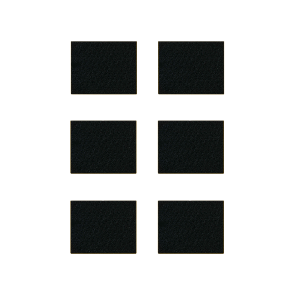 Podkładki meblowe filcowe czarne Premium 48mm x 48mm