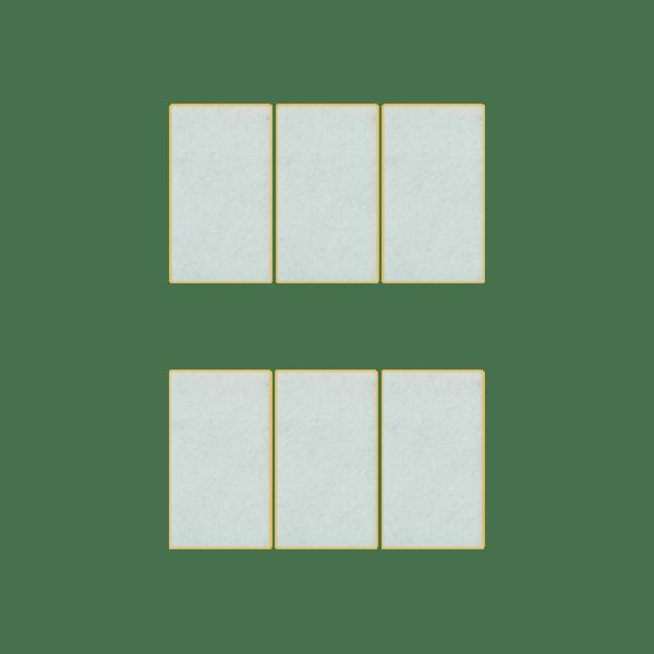 Podkładki meblowe filcowe białe Premium 55mm x 30mm