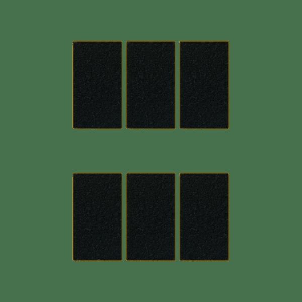 Podkładki meblowe filcowe czarne Premium 55mm x 30mm