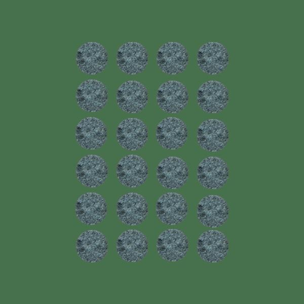 Podkładki meblowe filcowe szare Premium fi 20 mm