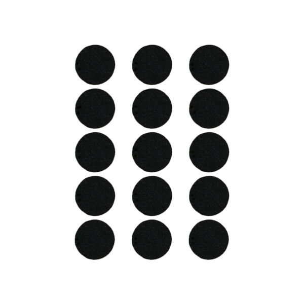 Podkładki meblowe filcowe czarne Premium fi 25 mm