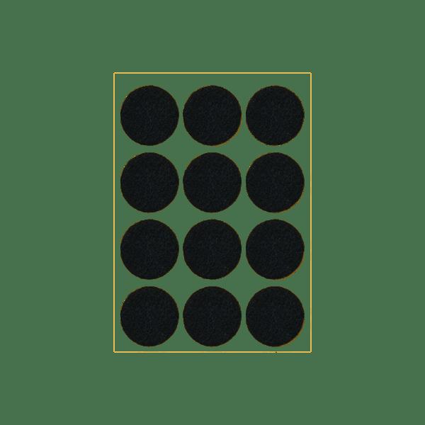Podkładki meblowe filcowe czarne Premium fi 30 mm