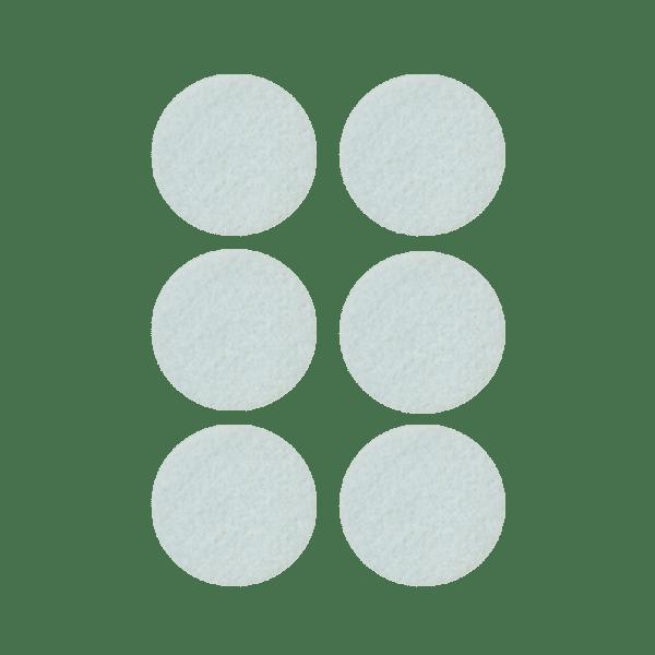 Podkładki meblowe filcowe białe Premium fi 40 mm
