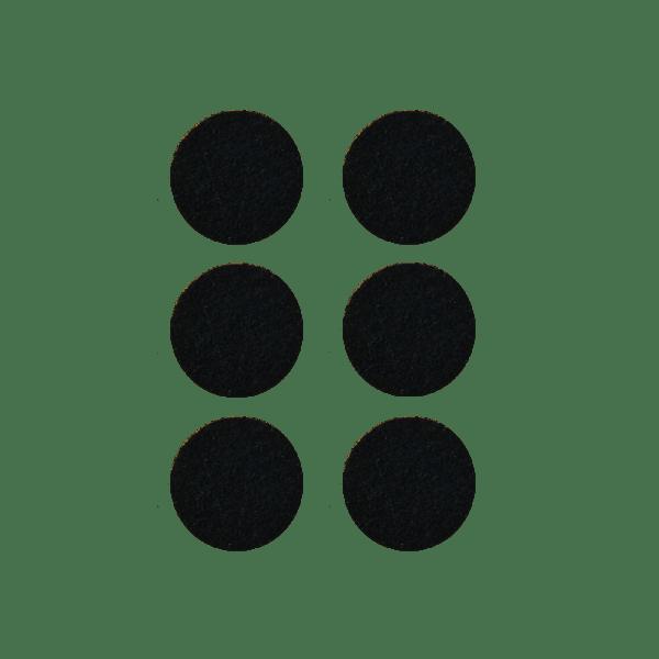 Podkładki meblowe filcowe czarne Premium fi 40 mm