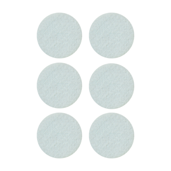 Podkładki meblowe filcowe białe Premium fi 45 mm