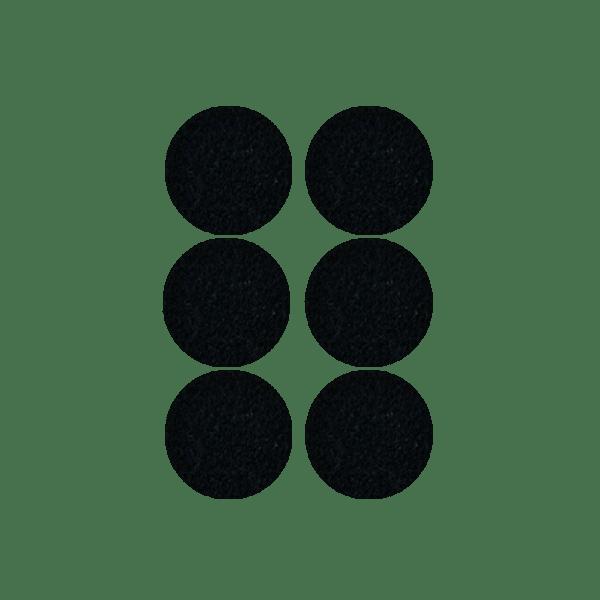 Podkładki meblowe filcowe czarne Premium fi 45 mm