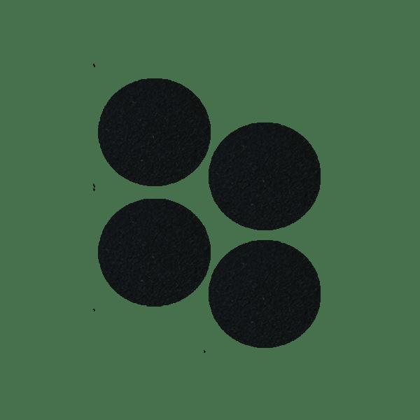 Podkładki meblowe filcowe czarne Premium fi 50 mm