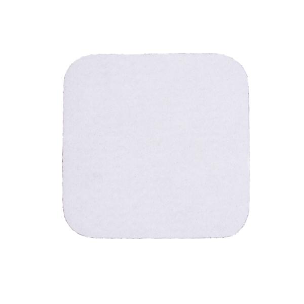 Podkładki podgumowane białe pod kubki i szklanki 10 cm x 10 cm