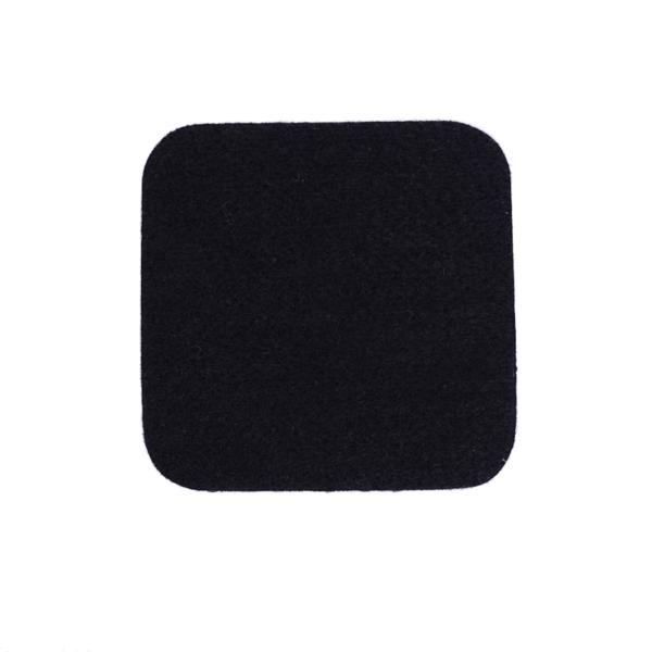 Podkładki podgumowane czarne pod kubki i szklanki 10 cm x 10 cm