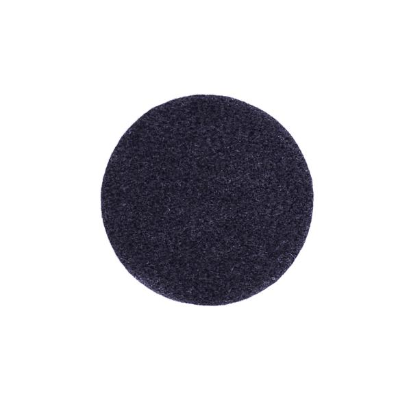 Podkładki podgumowane czarne pod kubki i szklanki fi 9 cm
